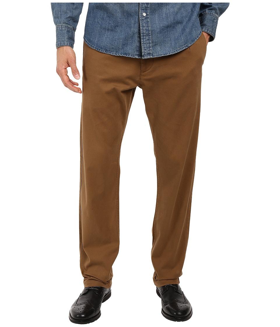Dockers Men's - Washed Khaki Slim Tapered (Tobacco) Men's Casual Pants