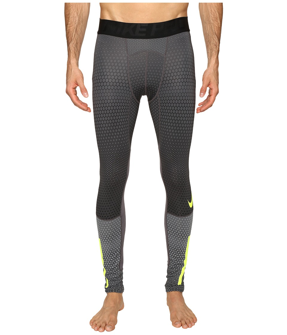Nike - Pro Hyperwarm Tight (Cool Grey/Dark Grey/Volt) Men's Casual Pants