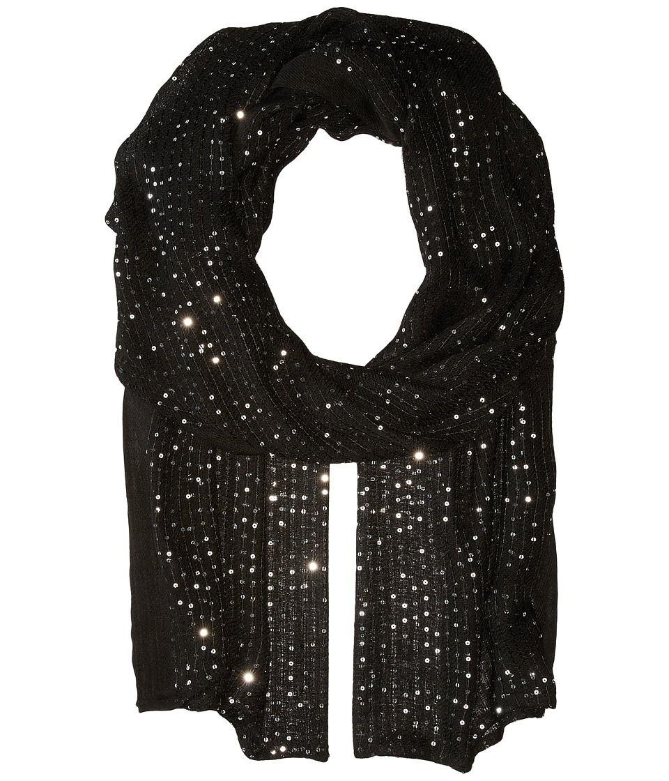 Echo Design - Sequins Wrap (Black) Scarves
