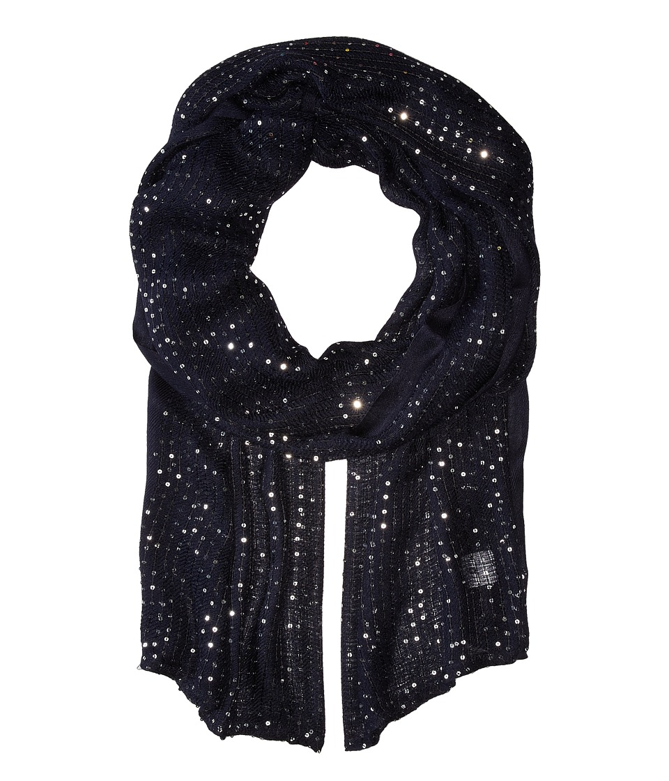 Echo Design - Sequins Wrap (Navy 1) Scarves