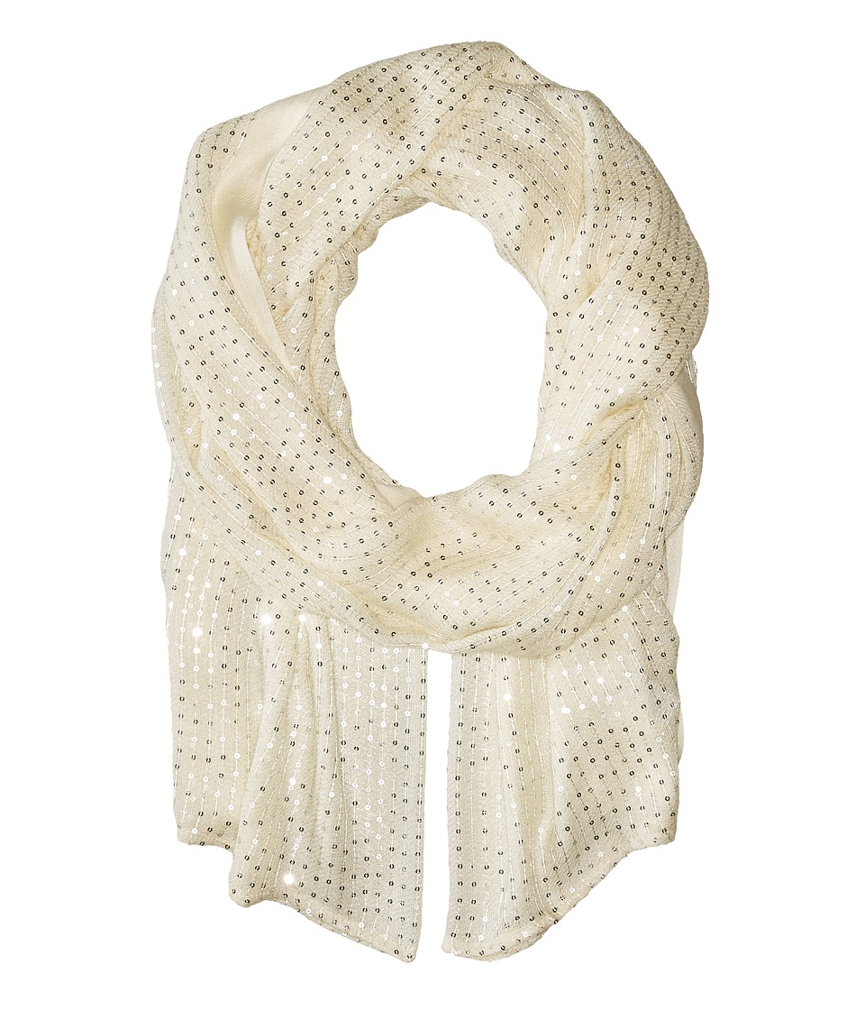 Echo Design - Sequins Wrap (Cream) Scarves