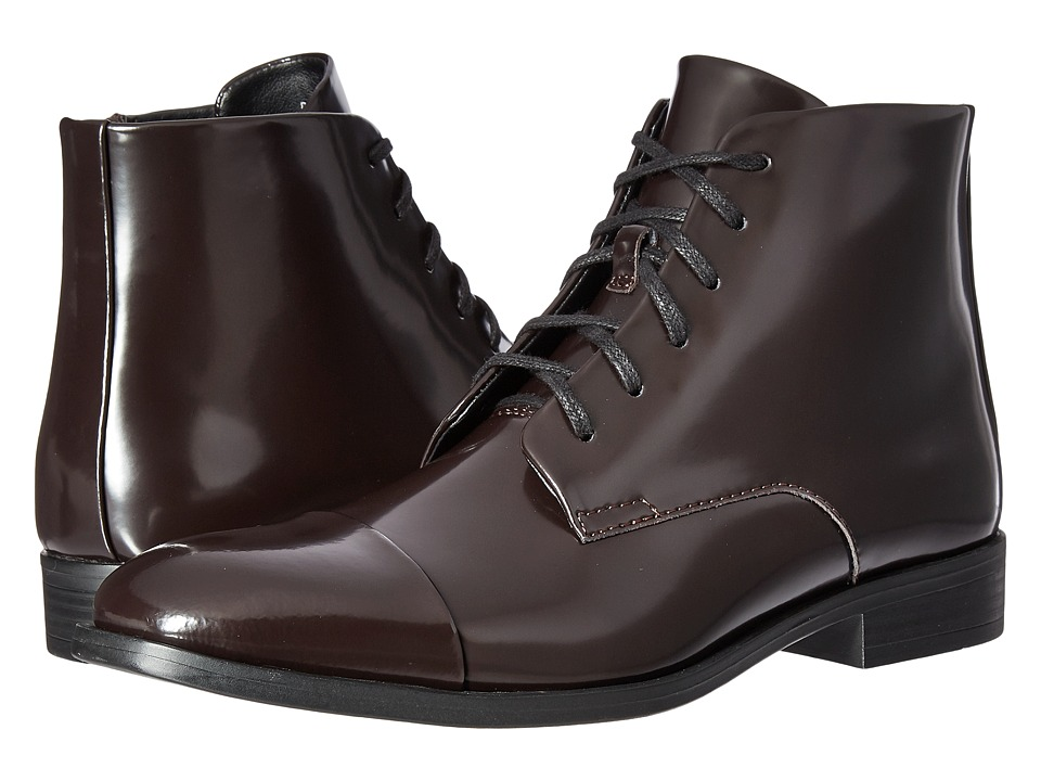Calvin Klein - Darsey (Dark Brown Box Leather) Men's Boots
