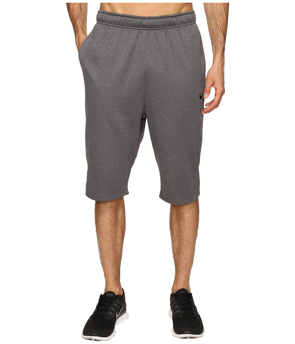 Nike - Therma Short (Charcoal Heather/Dark Grey/Black) Men's Shorts