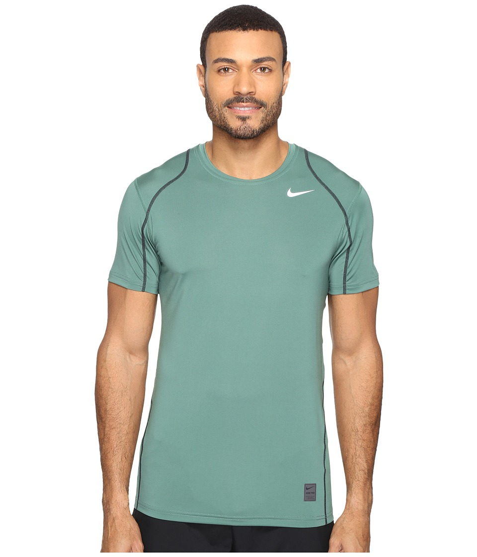 Nike - Pro Short Sleeve Training Top (Green Stone/Seaweed/White) Men's Short Sleeve Pullover