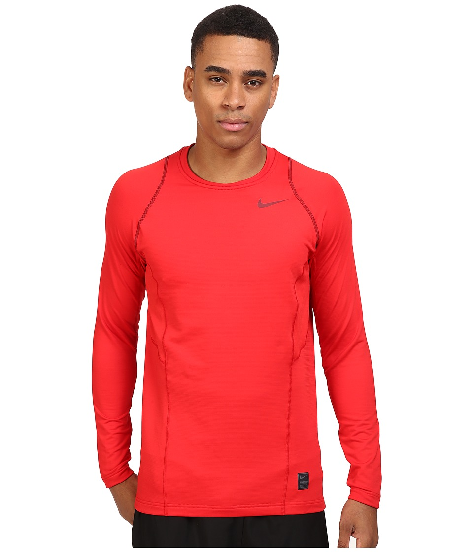 Nike - Pro Hyperwarm Long Sleeve Training Top (University Red/Team Red/Team Red) Men's Clothing