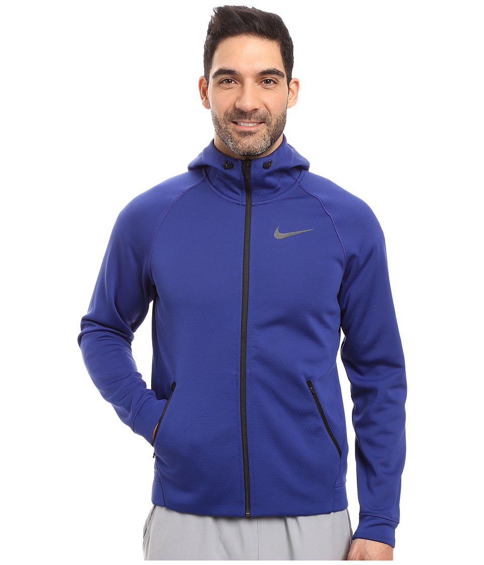 Nike Therma-Sphere Training Hoodie (Deep Royal Blue/Black/Black) Men