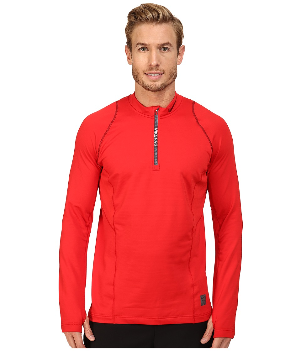Nike - Pro Hyperwarm 1/4 Zip Training Top (University Red/Team Red/Team Red) Men's Clothing