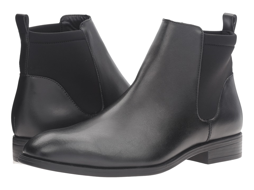 Calvin Klein - Dai (Black Leather) Men's Boots