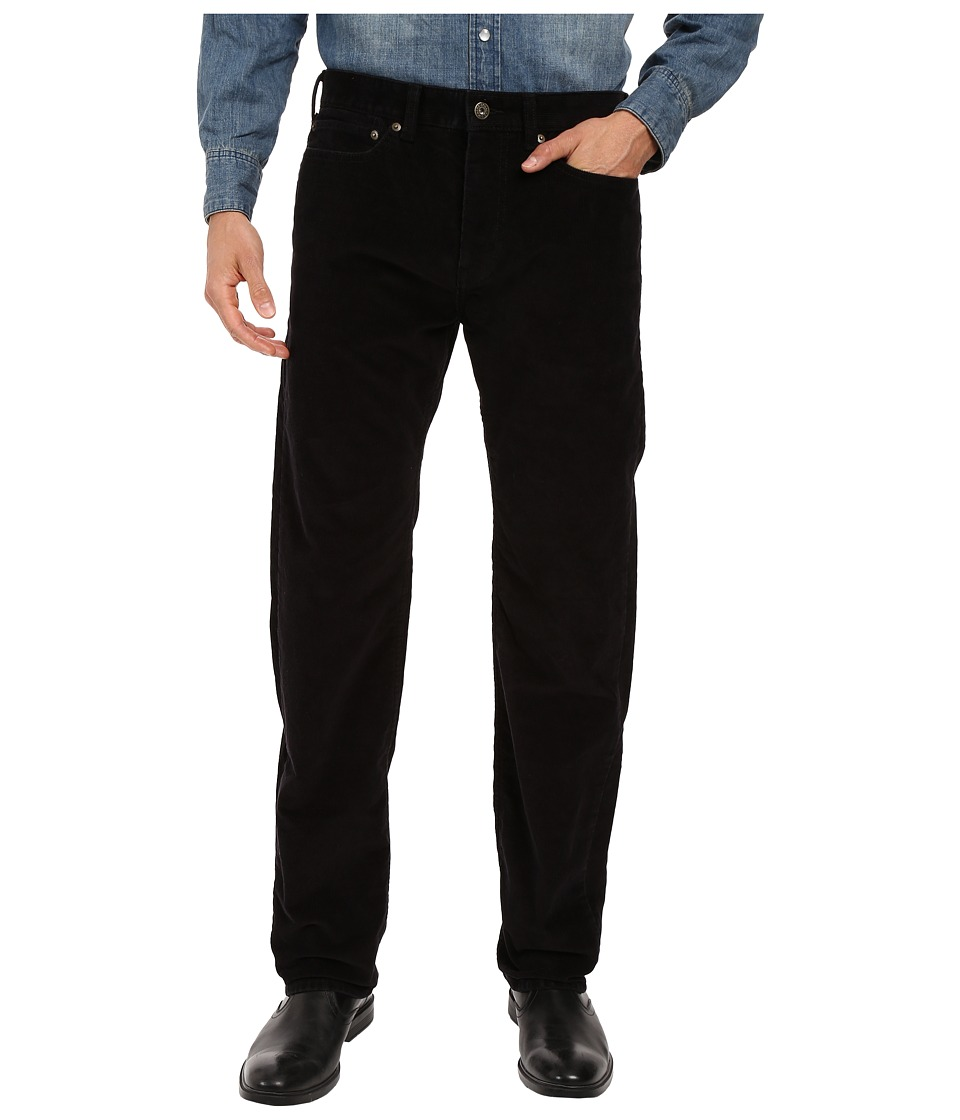 Dockers Men's - Corduroy Five-Pocket Straight (Black) Men's Casual Pants