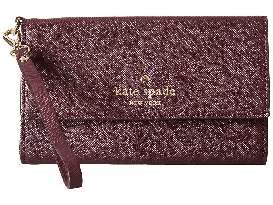 Kate Spade New York - Cedar Street Phone 6 Wristlet (Mahogany) Cell Phone Case