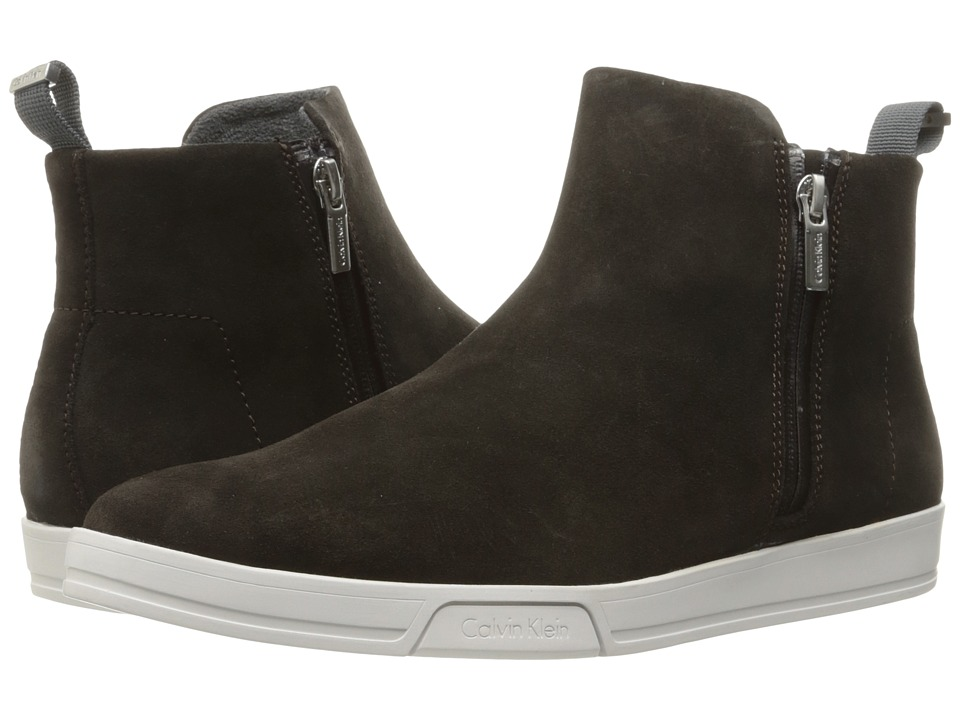 Calvin Klein - Barkley (Dark Brown Oily Suede) Men's Shoes