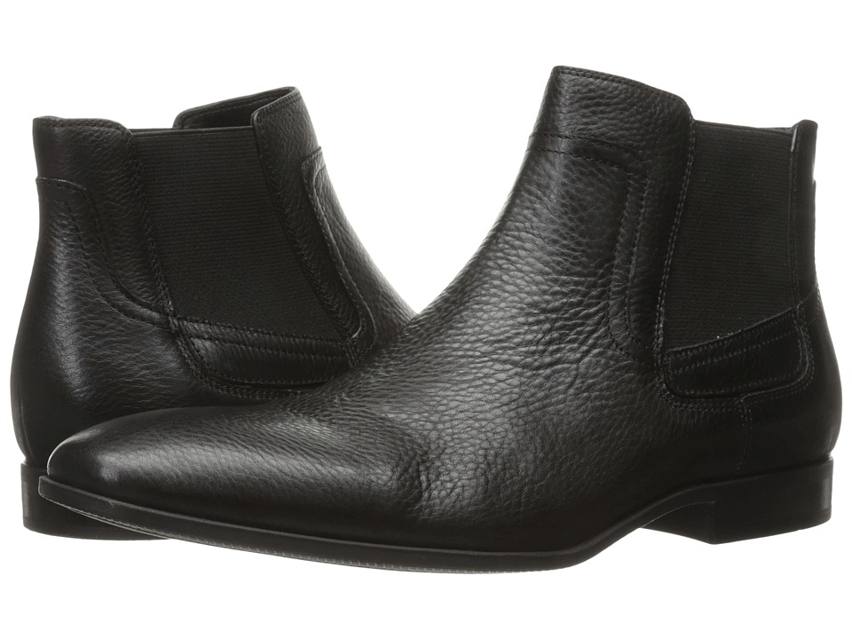 Calvin Klein - Clarke (Black Tumbled Cow Leather) Men's Boots