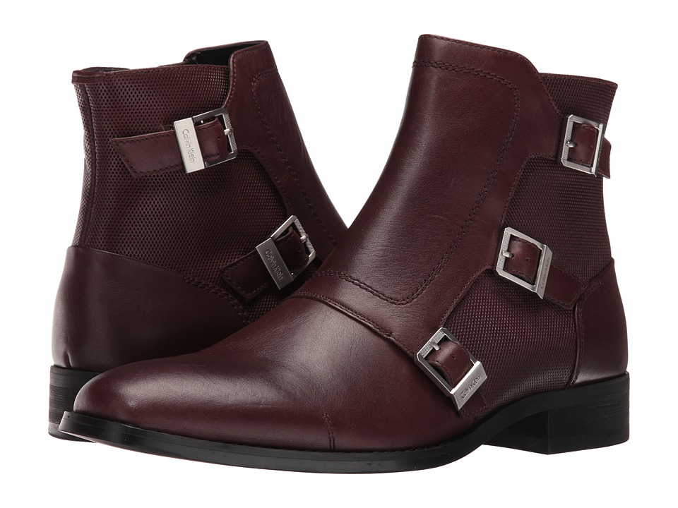 Calvin Klein Stark (Oxblood Calf Leather) Men