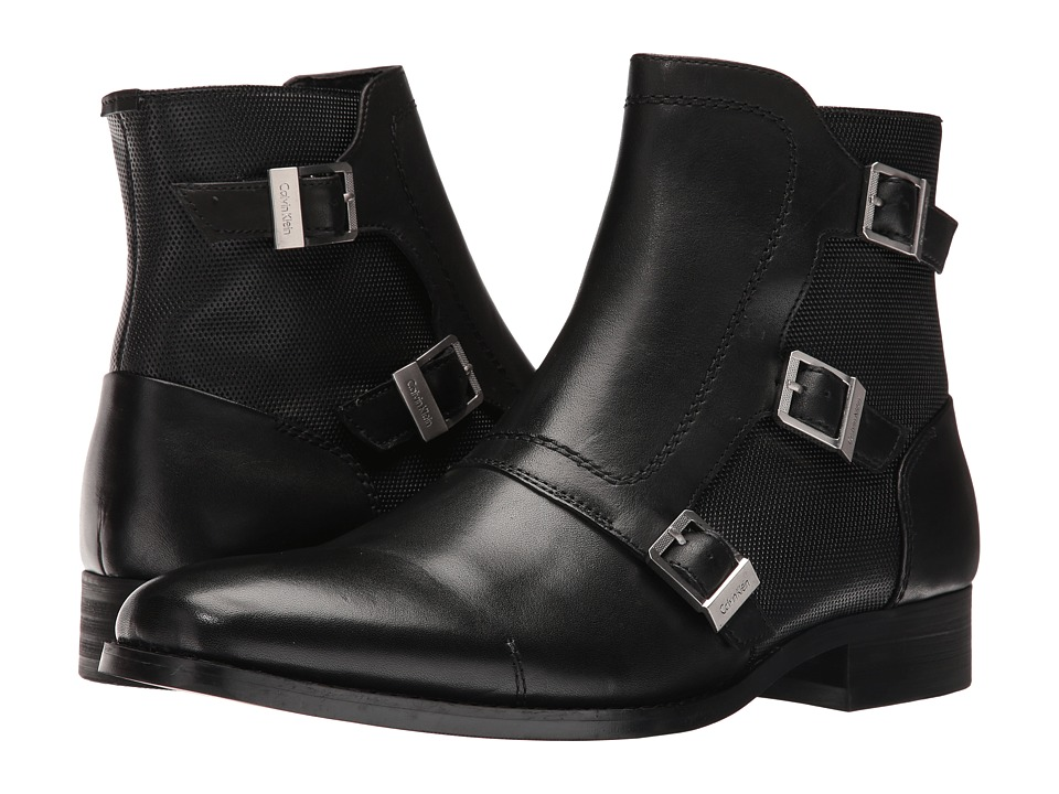 Calvin Klein Stark (Black Calf Leather) Men