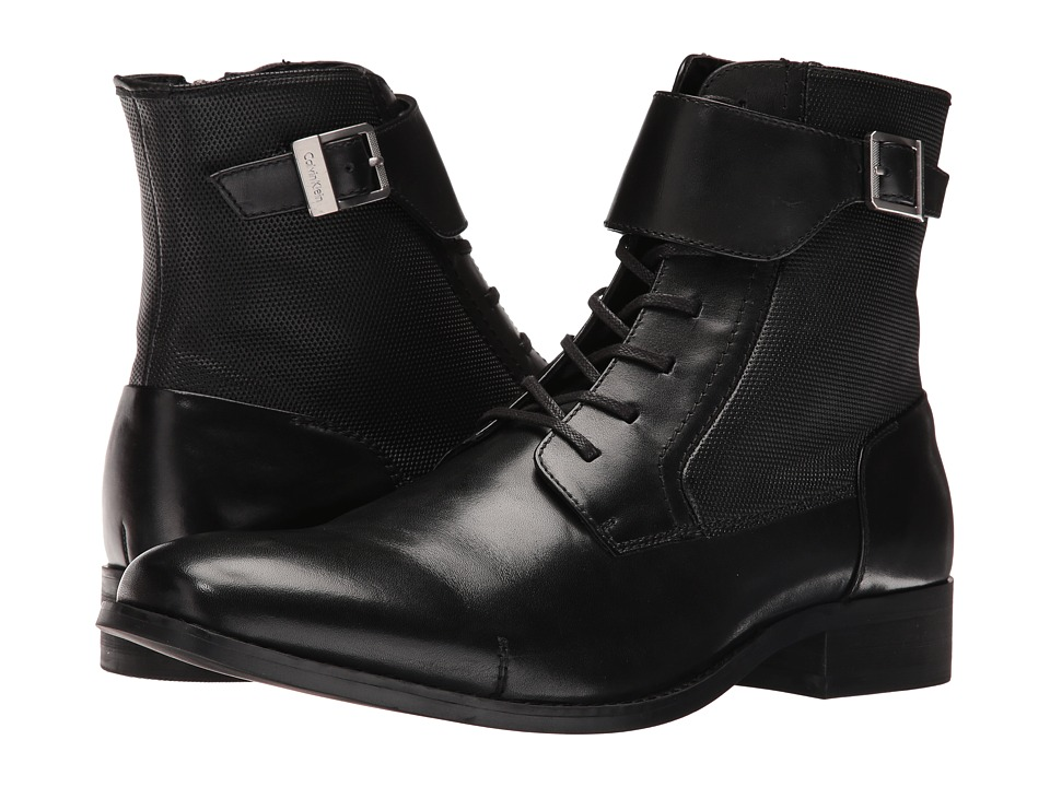 Calvin Klein Stokely (Black Calf Leather) Men