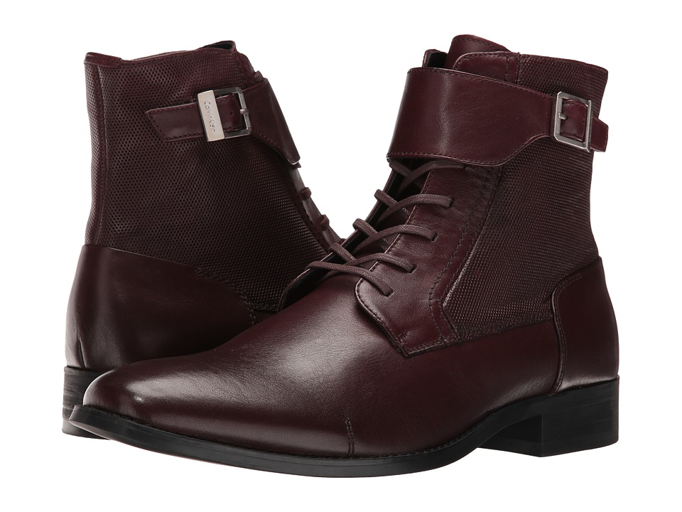 Calvin Klein Stokely (Oxblood Calf Leather) Men