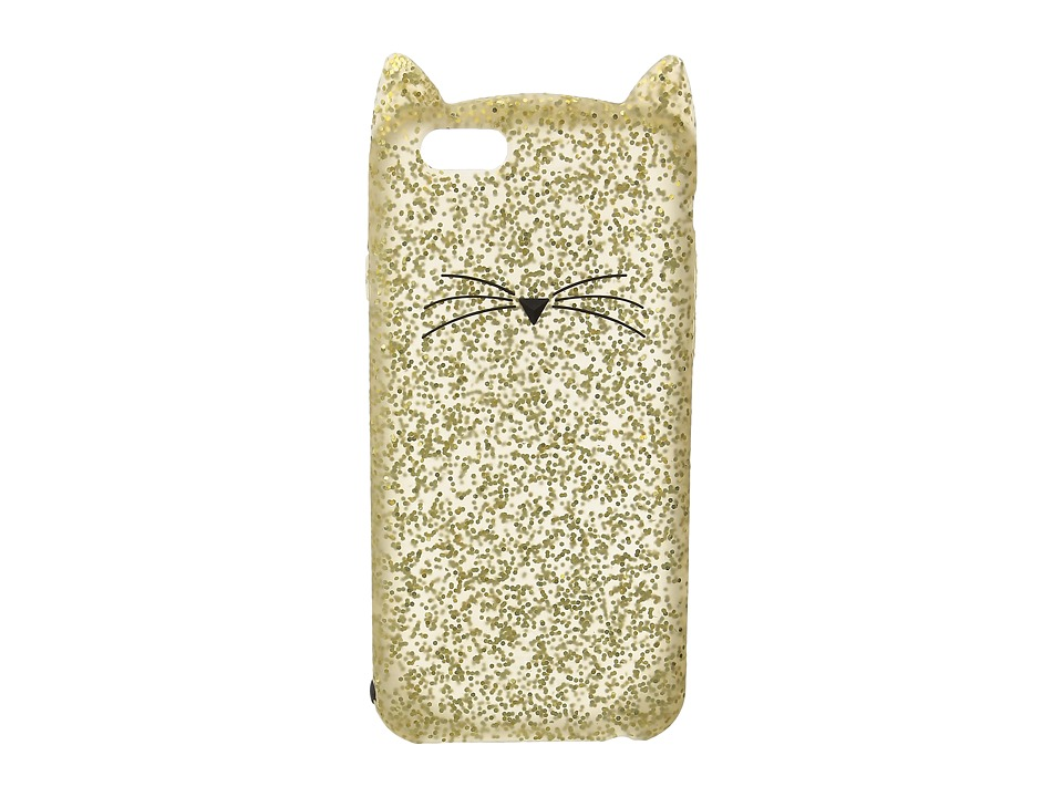 Kate Spade New York - Glitter Cat Phone Case for iPhone 6 (Gold Glitter) Cell Phone Case