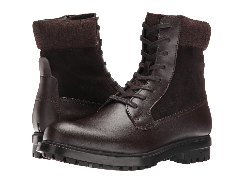 Calvin Klein - Gable (Dark Brown Leather) Men's Boots