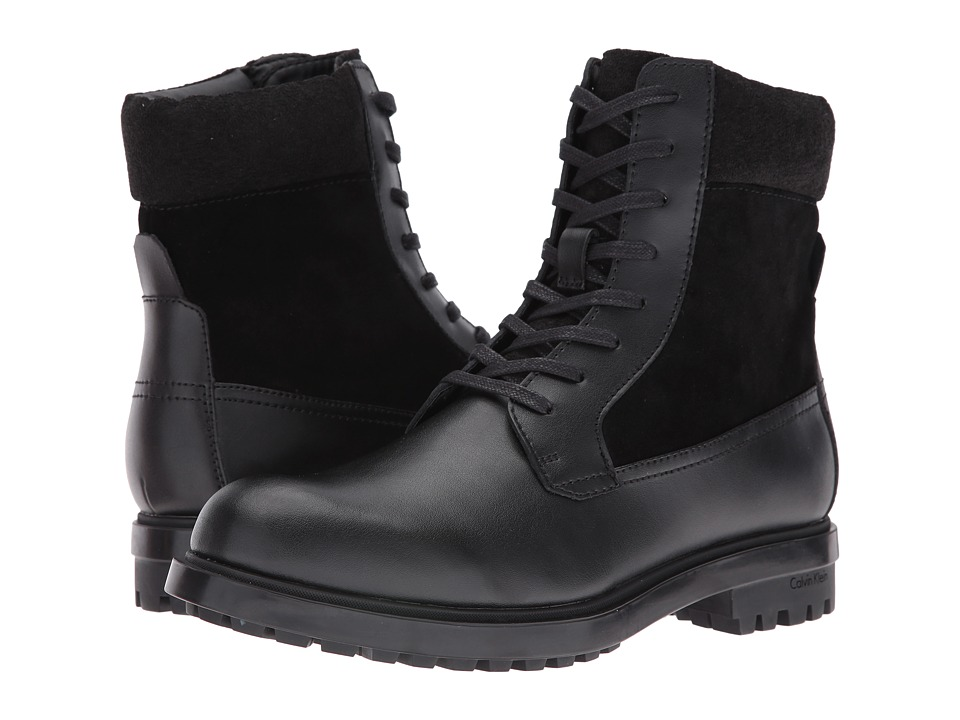 Calvin Klein - Gable (Black Leather) Men's Boots