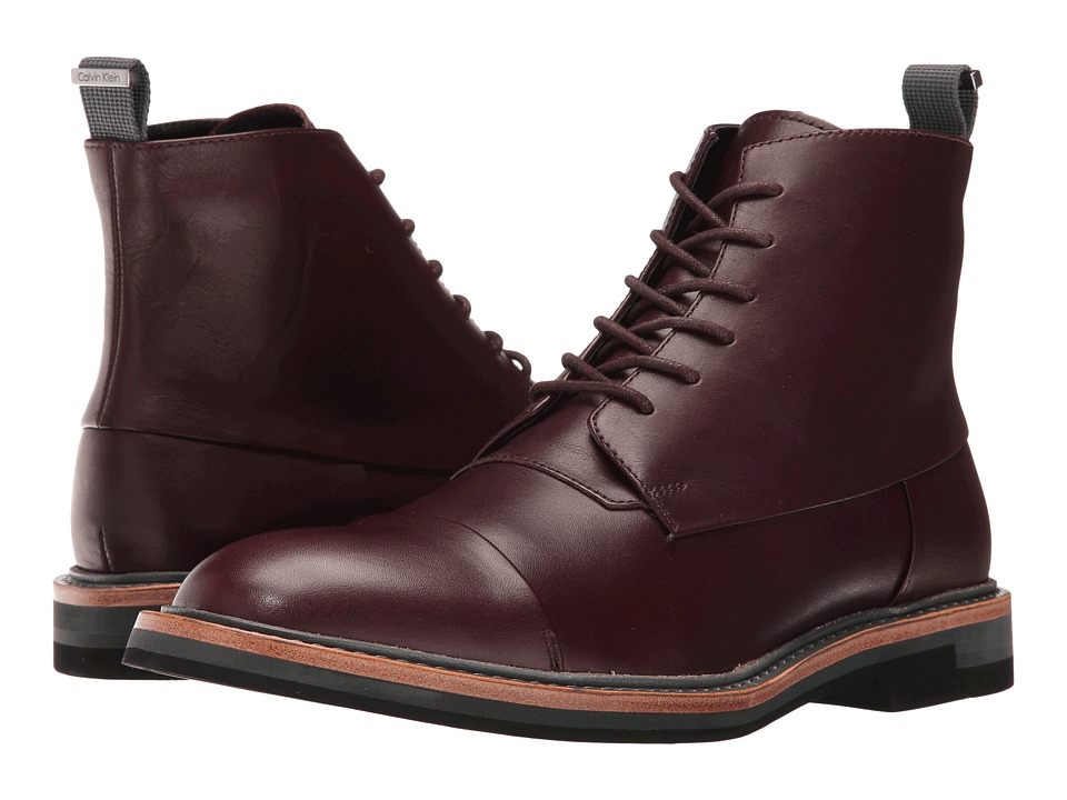 Calvin Klein Jabin (Oxblood Calf Leather) Men