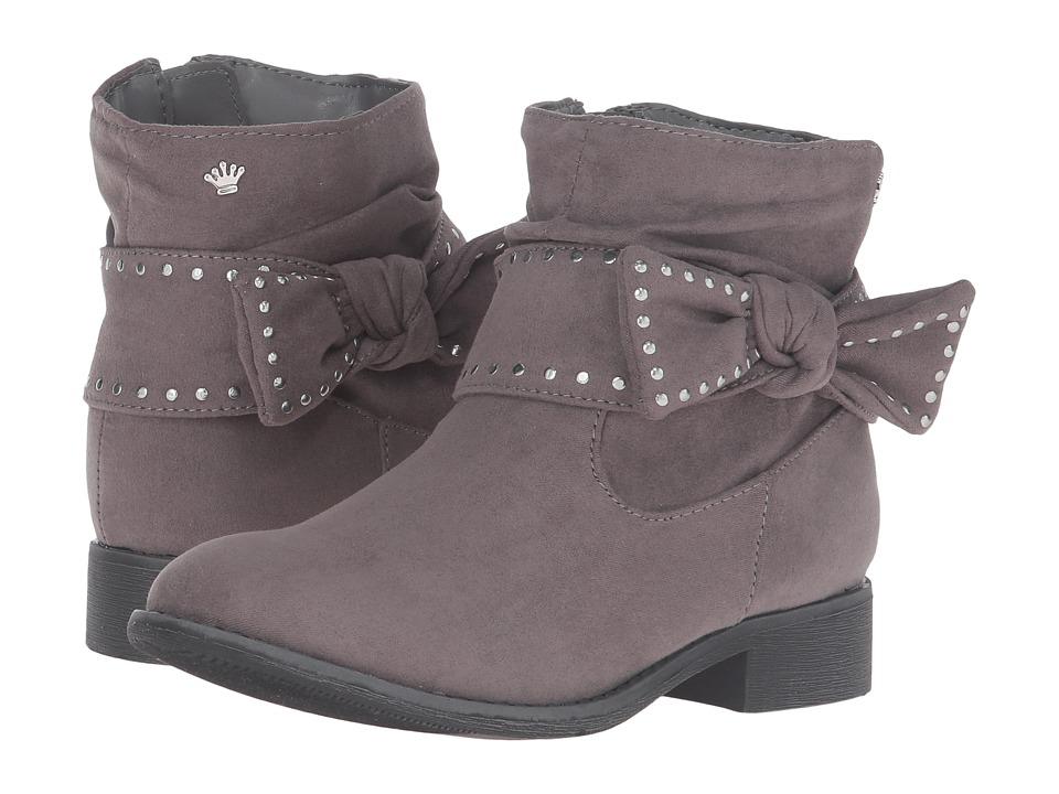 Nina Kids - Christie (Little Kid/Big Kid) (Grey Micro Suede) Girls Shoes