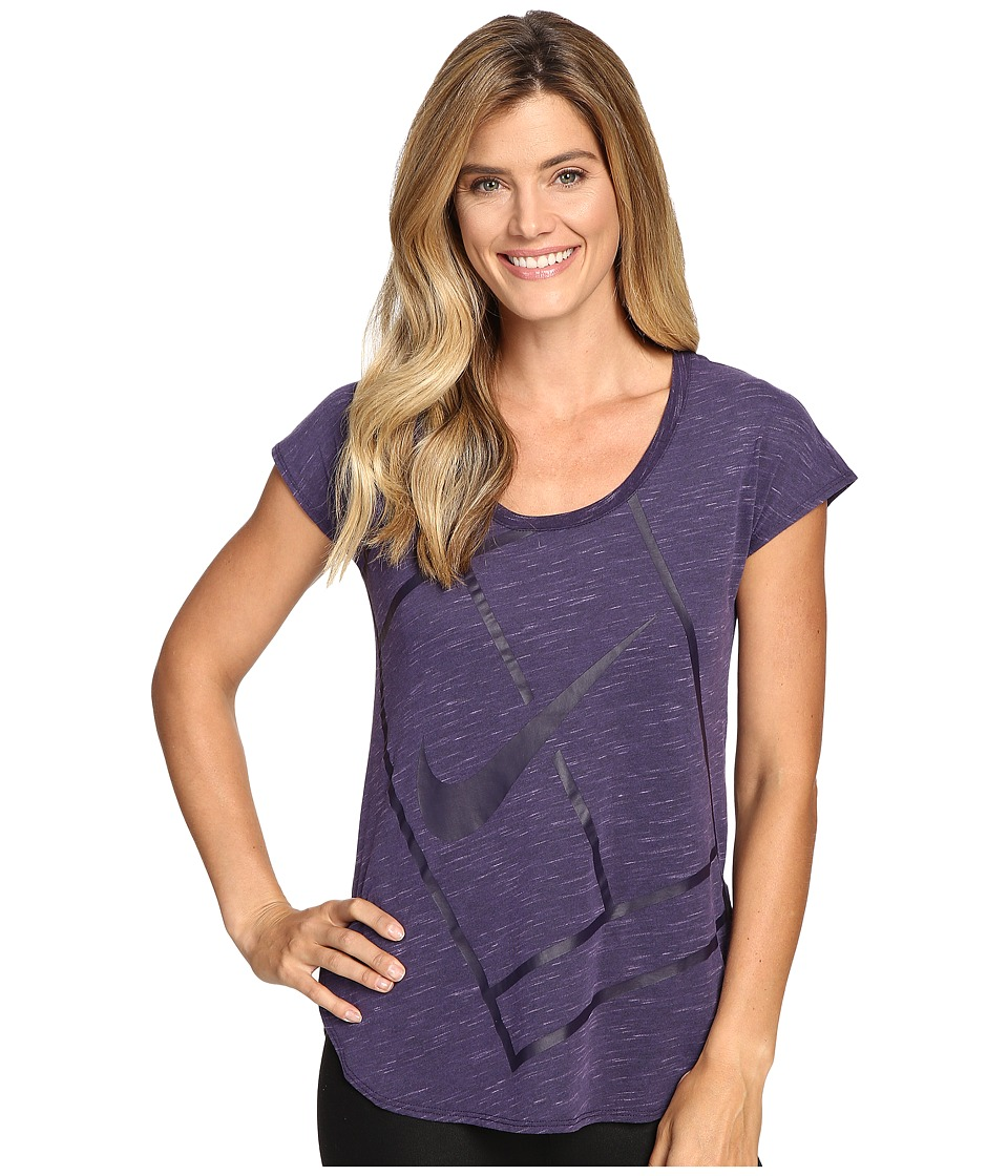 Nike - Court Baseline Tennis Shirt (Purple Dynasty/Purple Dynasty) Women's Clothing