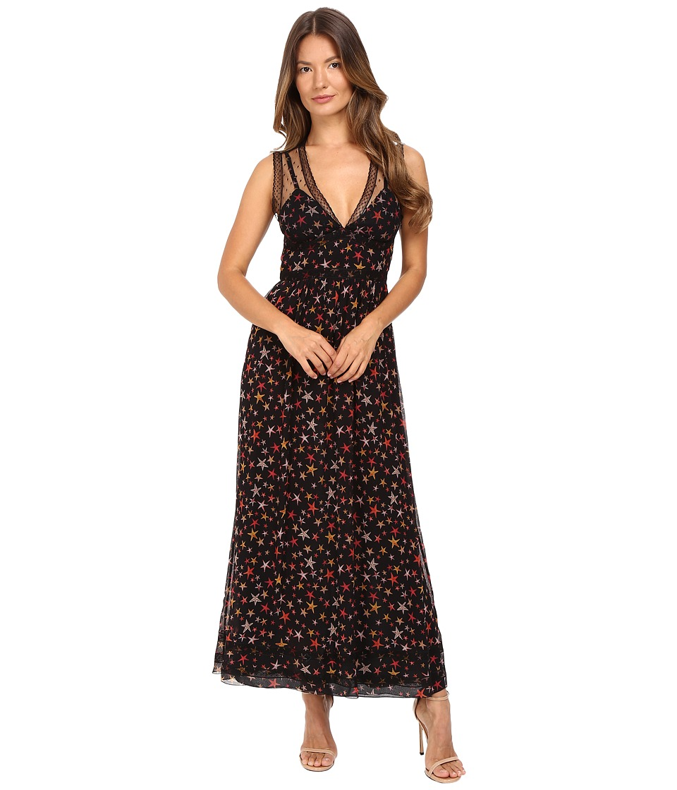 RED VALENTINO - Starfish Print Dress (Black) Women's Dress