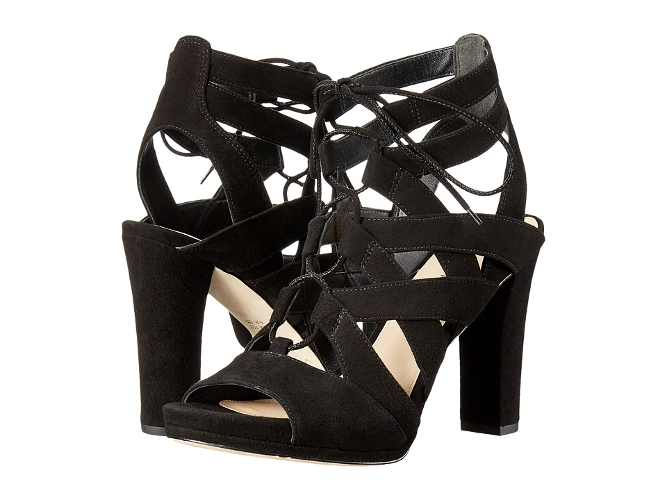 Via Spiga Collette (Black Kid Suede Leather) High Heels