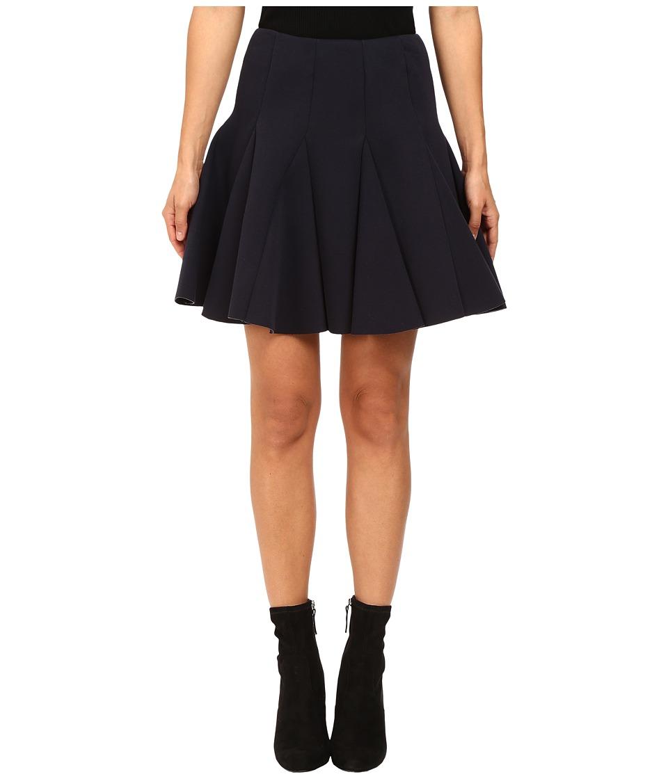 RED VALENTINO - Scuba Jersey Skirt (Blue) Women's Skirt