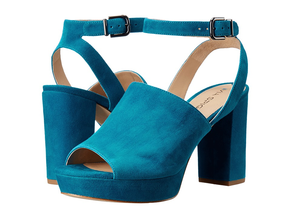 Via Spiga - Julee (Marine Blue Kid Suede Leather) High Heels