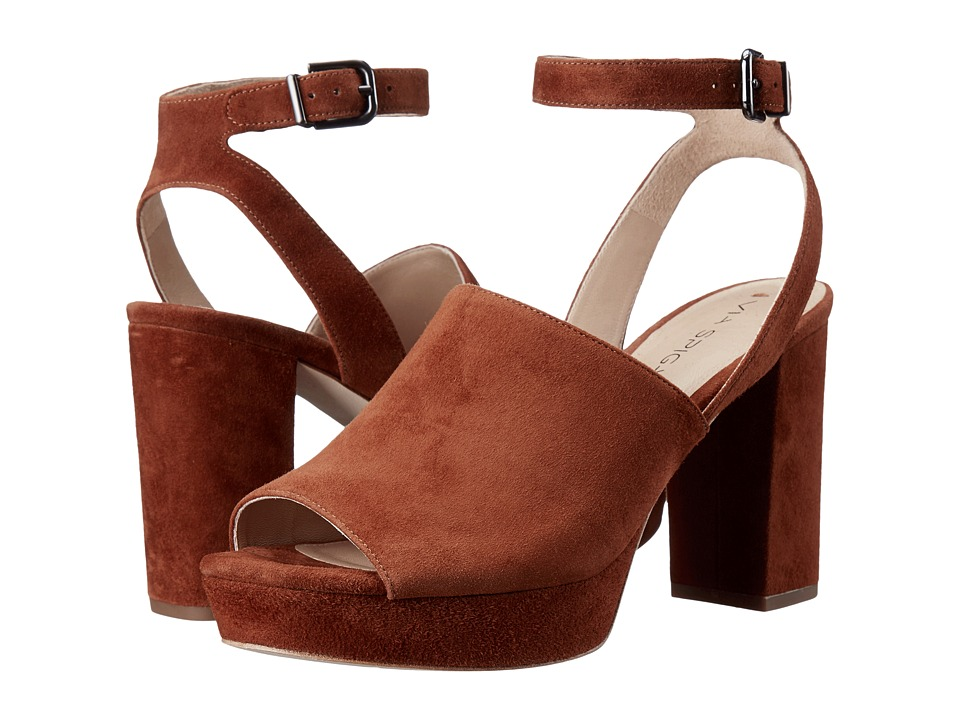 Via Spiga - Julee (Luggage Kid Suede Leather) High Heels