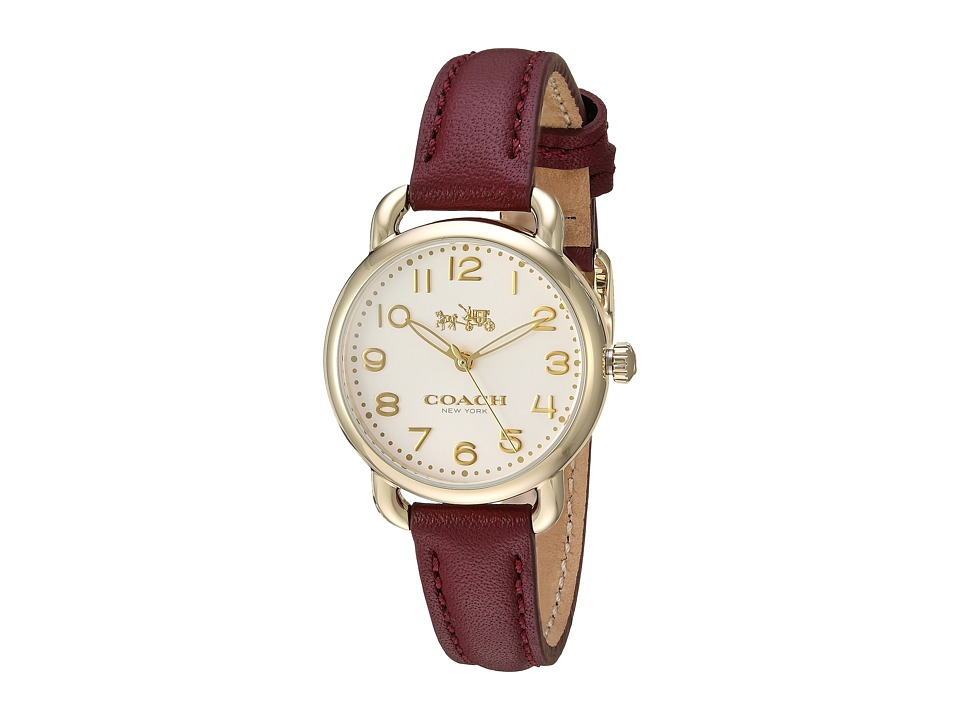COACH - Delancey 28mm with Soft Port Leather (Gold Plated) Watches