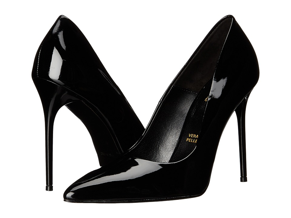 Massimo Matteo - Patent Pump (Black Patent) High Heels