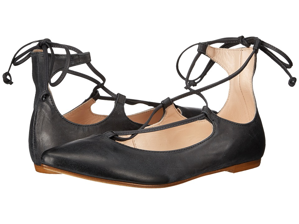Massimo Matteo - Ankle Strap (Black) Women's Flat Shoes