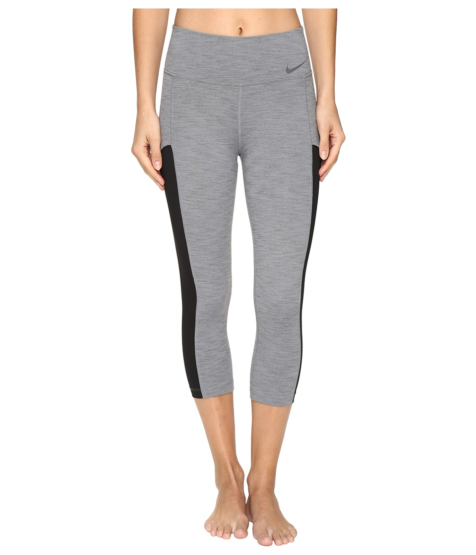 Nike - Court Tennis Capri (Dark Grey Heather/Black/Dark Grey) Women's Capri