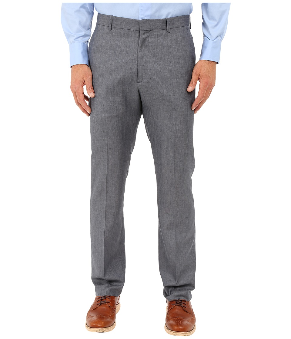 Perry Ellis Portfolio - Slim Stripe Herringbone Pants (Bering Sea) Men's Dress Pants