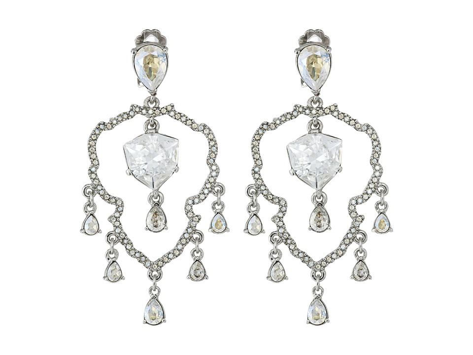 Oscar de la Renta - Shield Crystal Chandelier C Earrings (Crystal) Earring