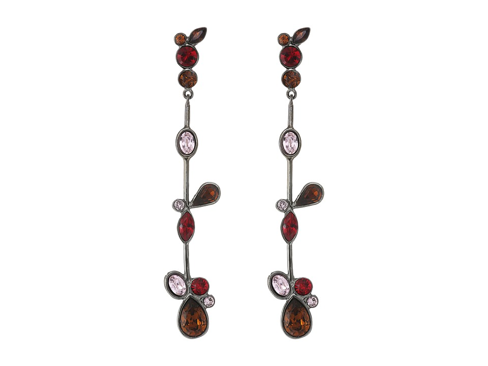 Oscar de la Renta - Floating Crystal Single Drop P Earrings (Red) Earring
