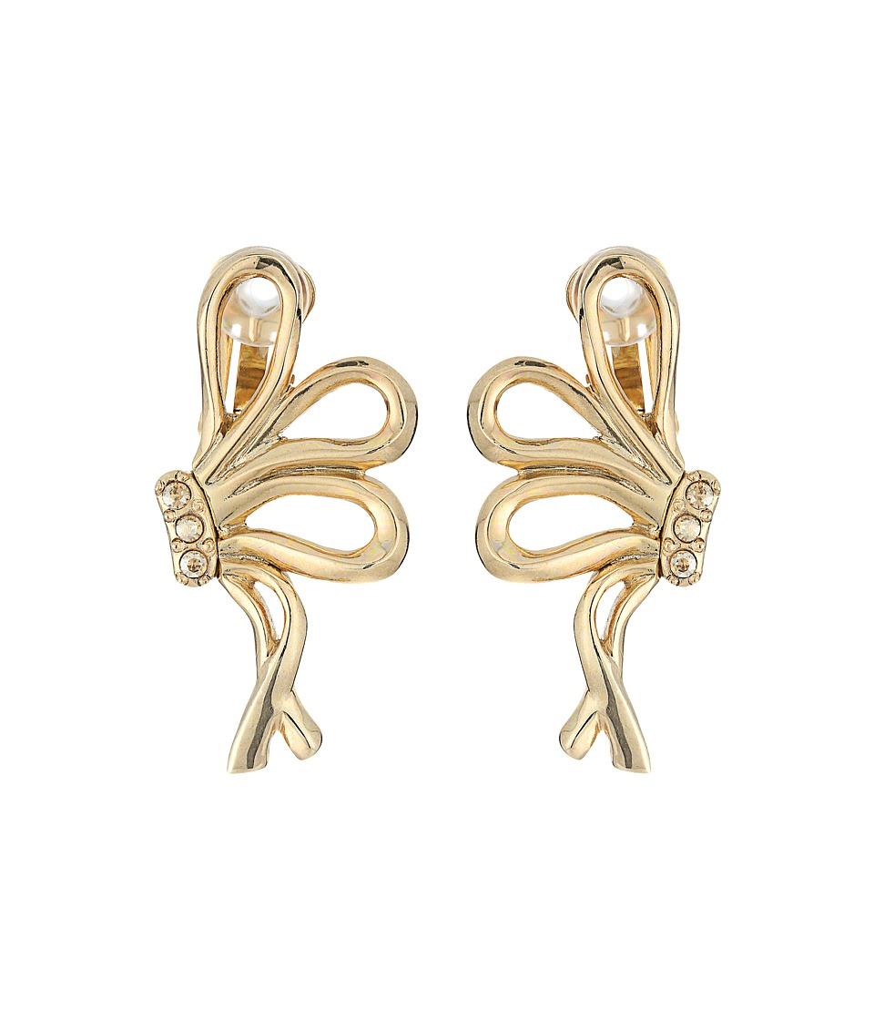 Oscar de la Renta - Bow C Earrings (Light Gold) Earring