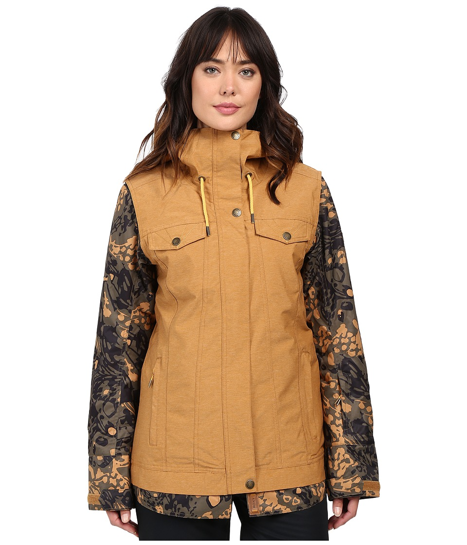 Roxy - Ceder Jacket (Bone Brown) Women's Coat