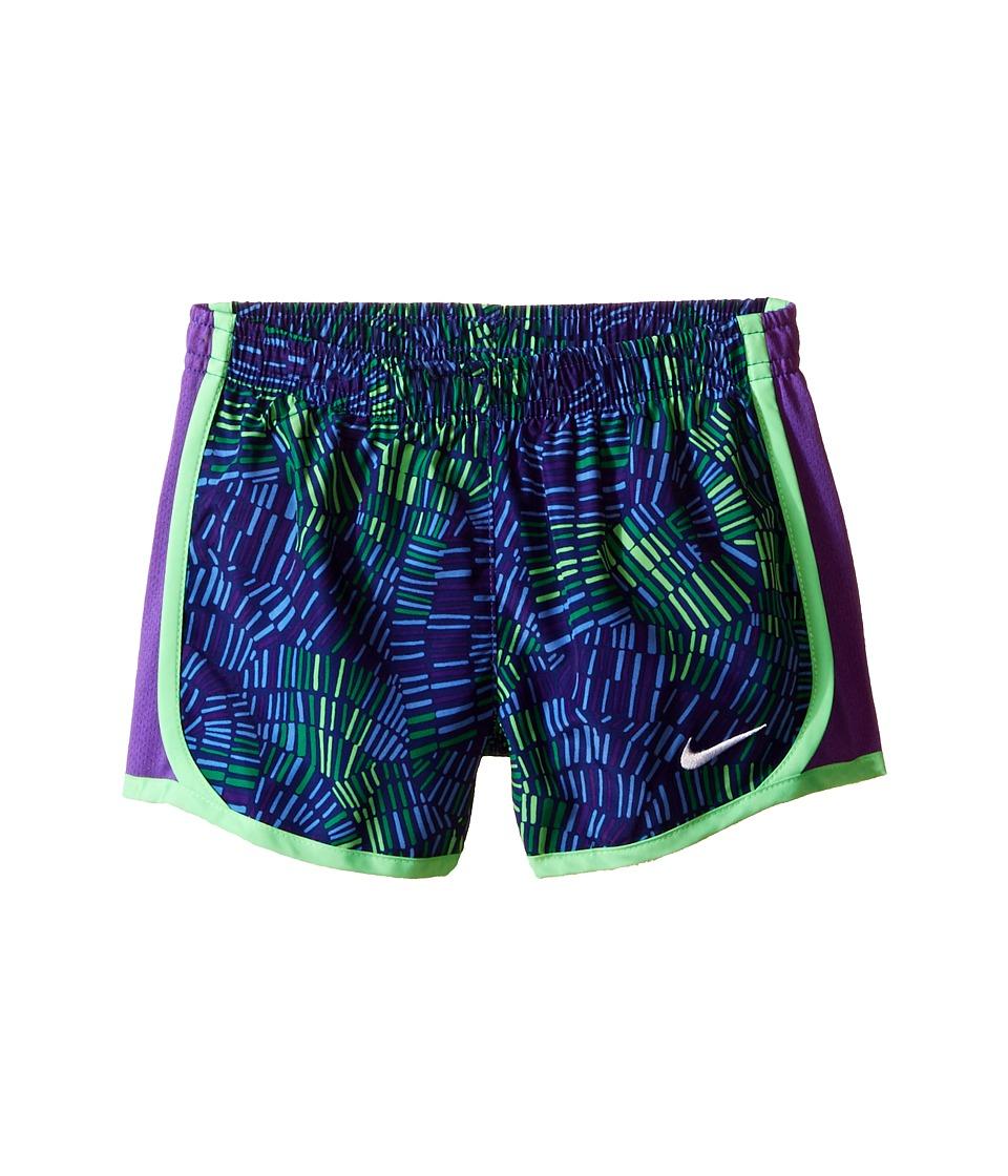 Nike Kids - Tempo Allover Print Short (Toddler) (Deep Night/Hyper Grape) Girl's Shorts