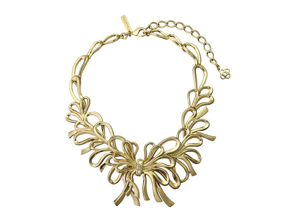 Oscar de la Renta - Bow Necklace (Light Gold) Necklace