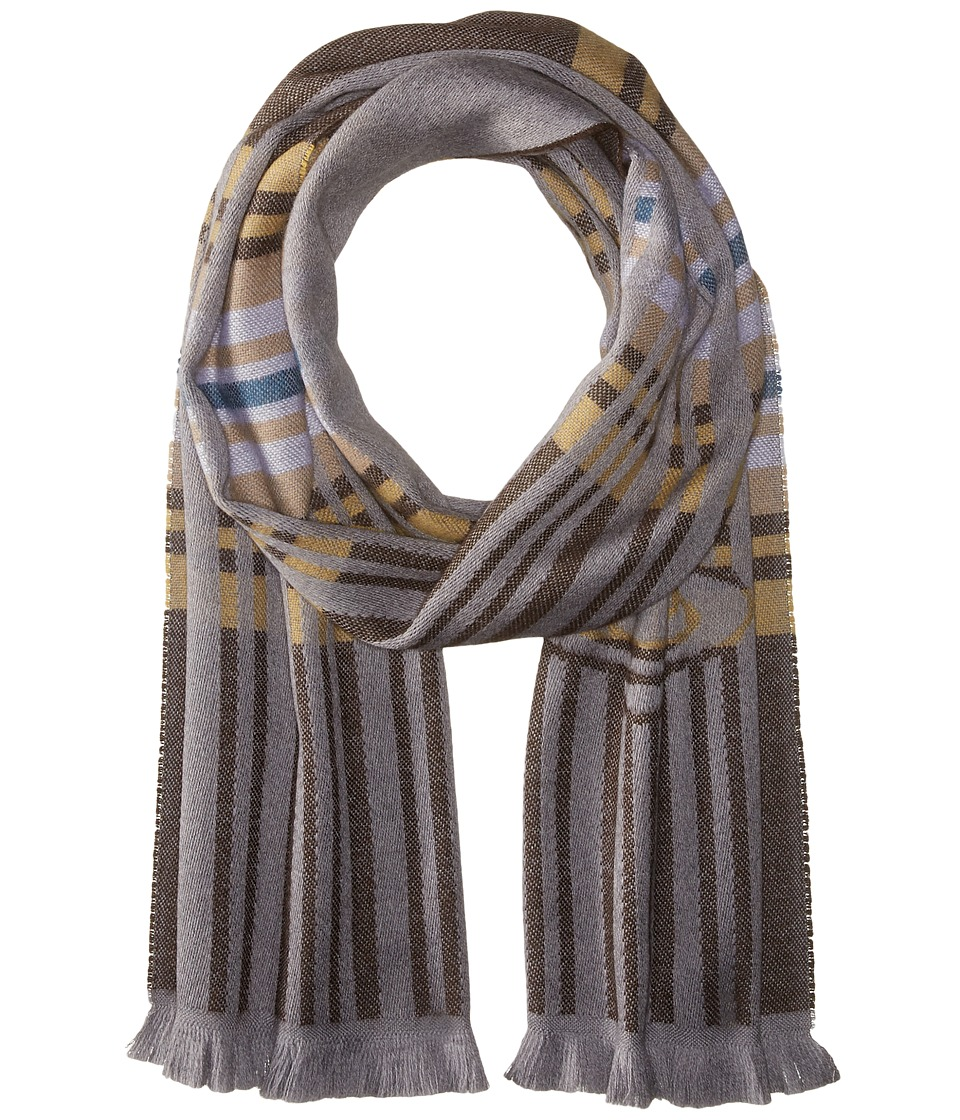 Vivienne Westwood - Wool Scarf 36 x 180 (Brown) Scarves