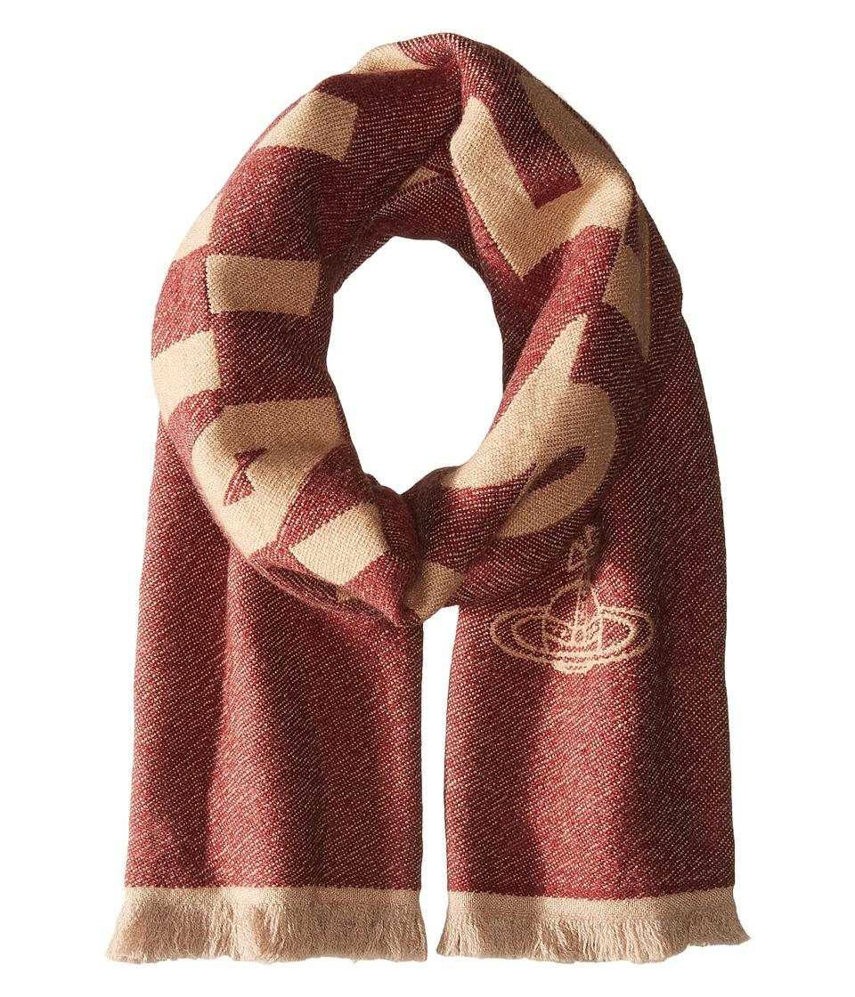Vivienne Westwood - Wool Scarf 36 x 180 (Bordeaux) Scarves