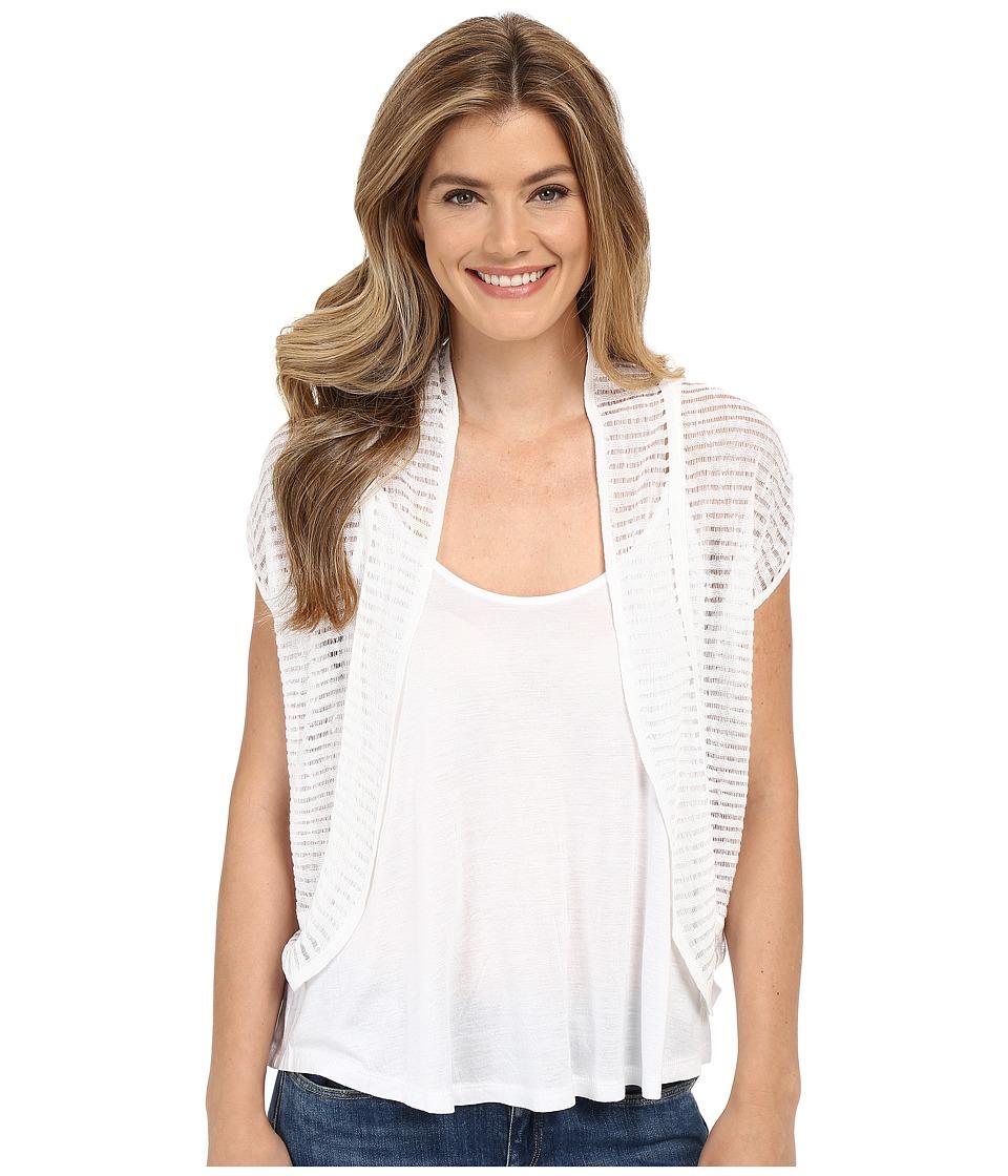 Lucky Brand - Shadow Stripe Sweater (Lucky White) Women's Sweater