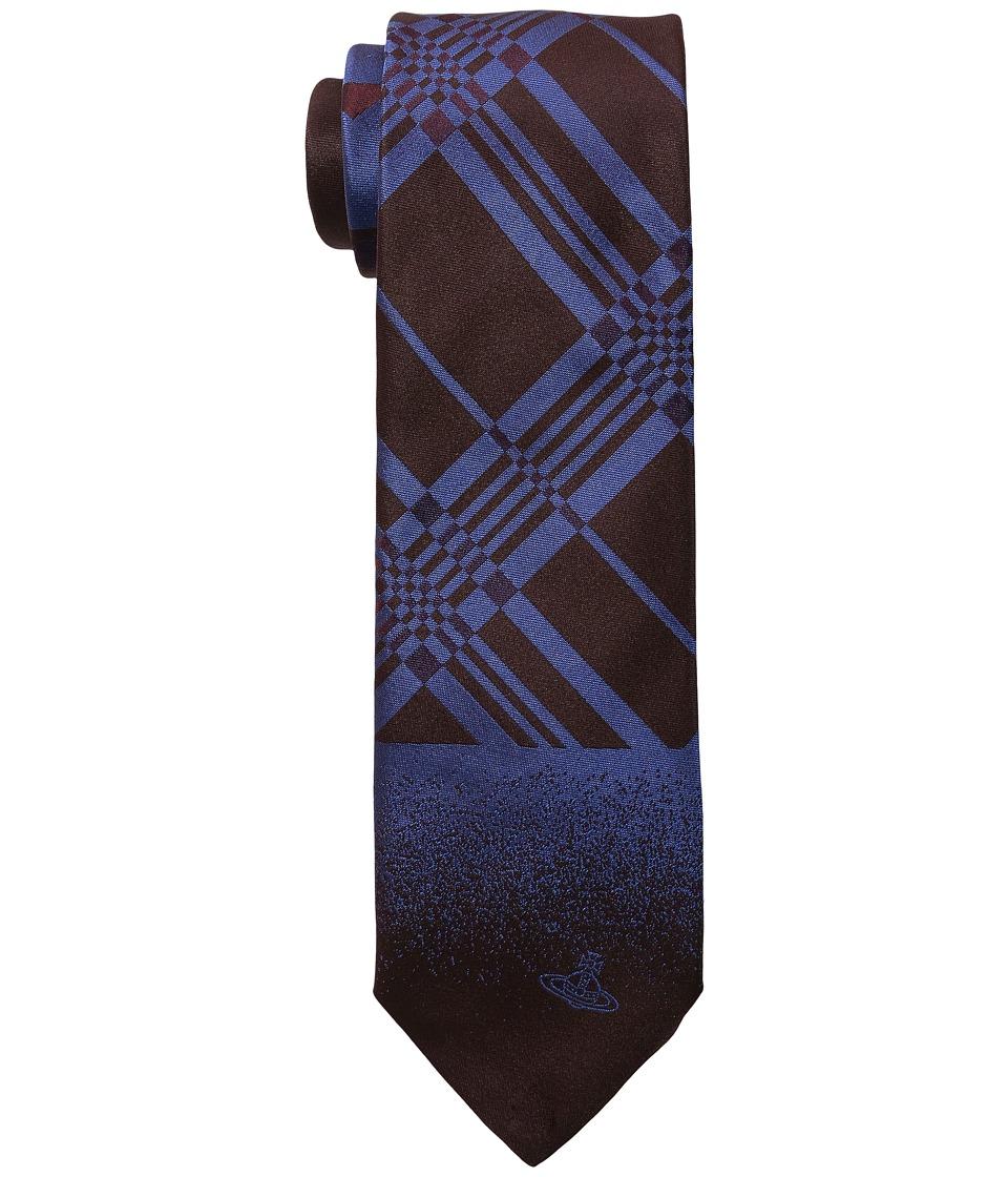 Vivienne Westwood - Plaid Tie 8.5cm (Aubergine) Ties