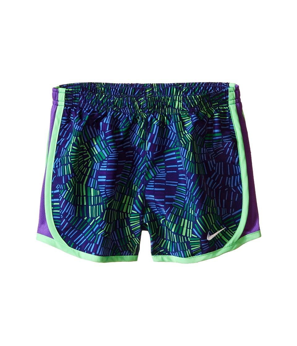 Nike Kids - Tempo Allover Print Short (Little Kids) (Deep Night/Hyper Grape) Girl's Shorts