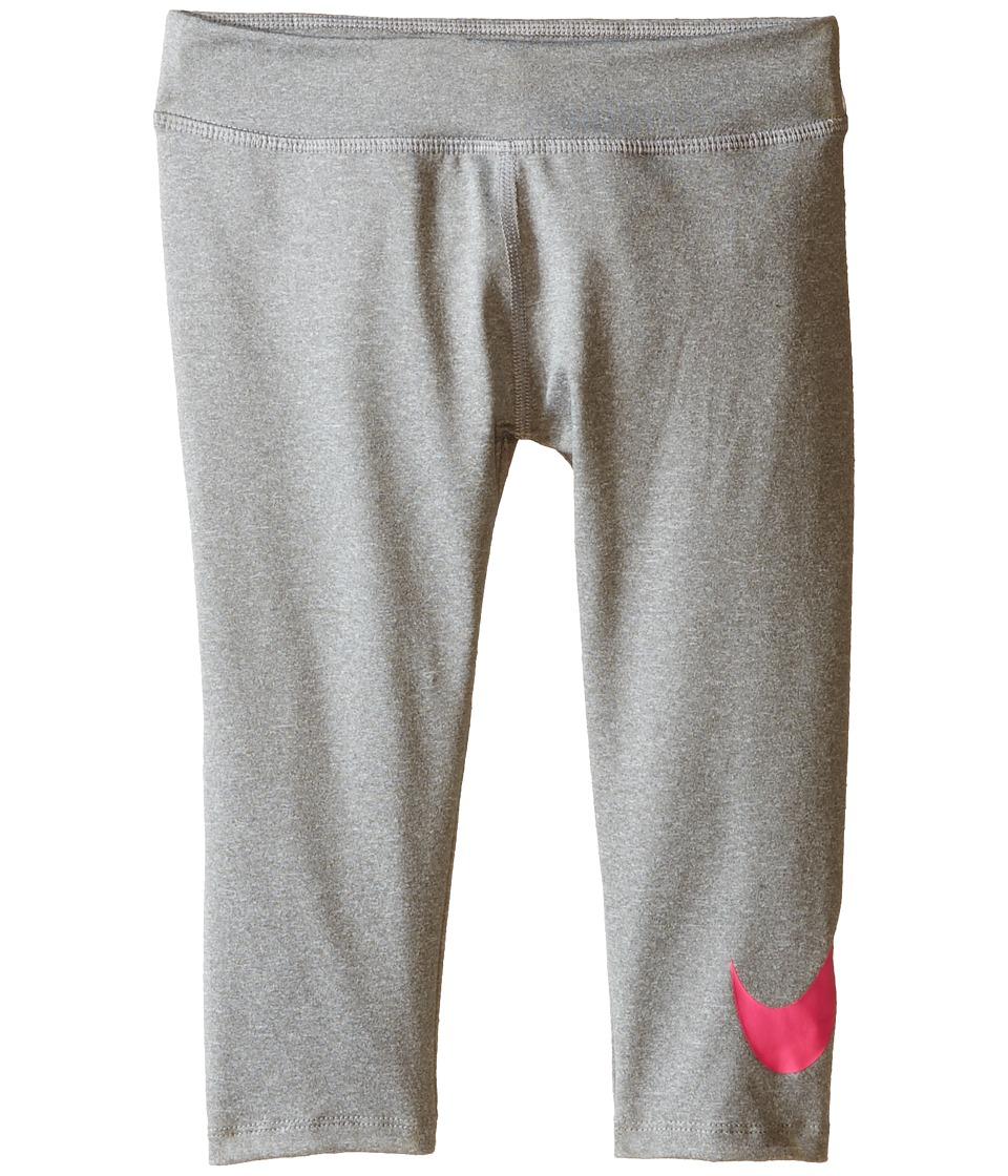 Nike Kids - Kcp A705 Dri-FIT Capris (Little Kids) (Dark Grey Heather) Girl's Capri