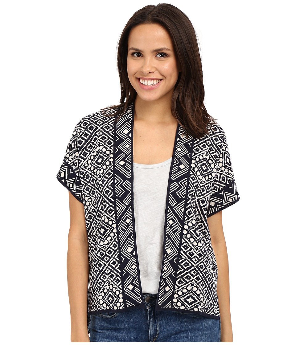 Lucky Brand - Geo 3rd Piece Top (Blue Multi) Women's Blouse