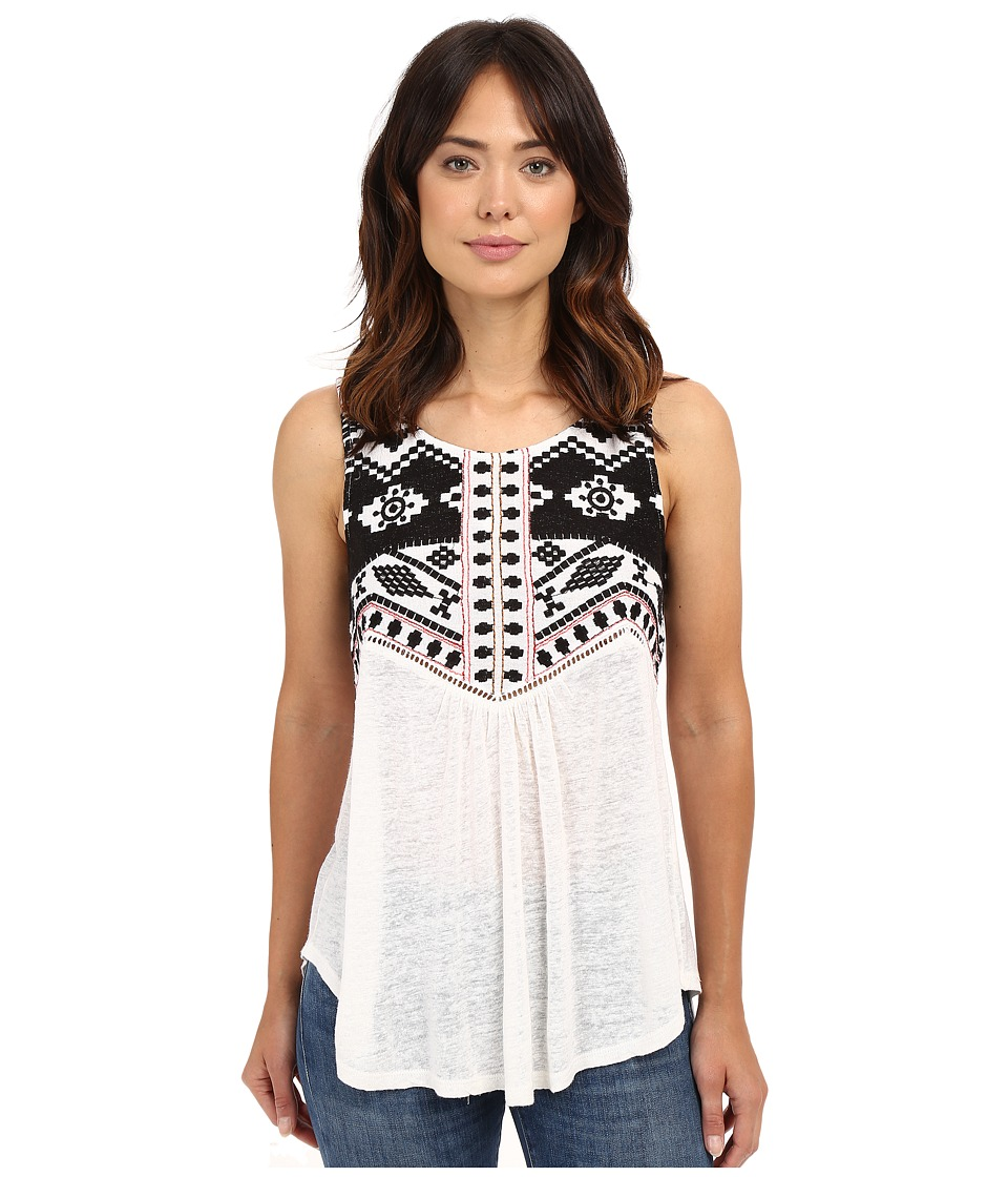 Lucky Brand - Embroidered Shell Top (Lucky White) Women's Clothing